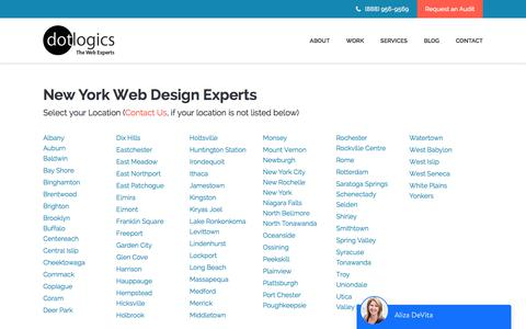 Screenshot of Locations Page dotlogics.com - Dotlogics - New York Experts, Web Designers - captured March 25, 2018