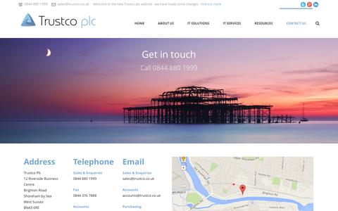 Screenshot of Support Page trustco.co.uk - Contact Us | Trustco - captured Nov. 5, 2014