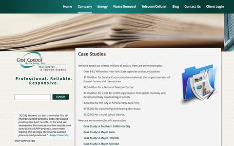 Screenshot of Case Studies Page costcontrolassociates.com - Cost Control Associates, Inc. | Case Studies - Cost Control Associates, Inc. - captured Oct. 10, 2014
