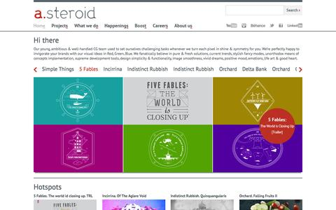 Screenshot of Home Page a-steroid.com - a.steroid visual works - captured Oct. 4, 2014