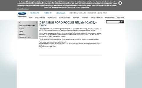 Ford Focus RS 2016 – Sportliche Kompaktwagen | Ford DE