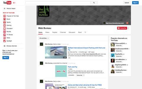 Screenshot of YouTube Page youtube.com - Web Bureau  - YouTube - captured Nov. 4, 2014