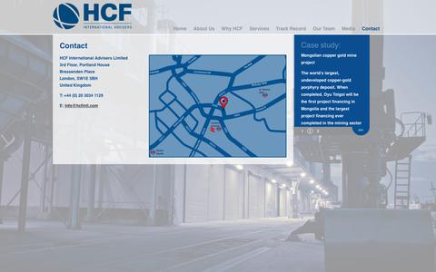 Screenshot of Contact Page hcfintl.com - Contact | HCF International Advisers - captured Dec. 13, 2018