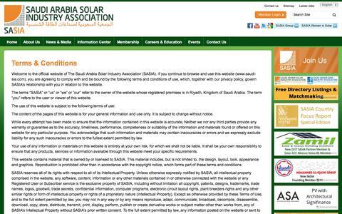 Screenshot of Terms Page saudi-sia.com - Terms & Conditions | Saudi Arabia Solar Industry Association - captured Oct. 24, 2017