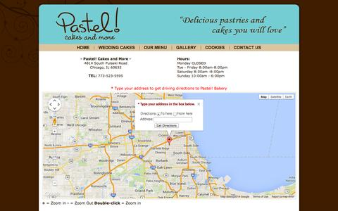 Screenshot of Maps & Directions Page pastelcakesandmore.com - Pastel! Cakes and More - Directions - captured Sept. 30, 2014