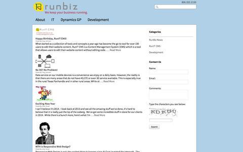 Screenshot of Blog run-biz.com - Blog | Run Business Solutions - captured Oct. 7, 2014