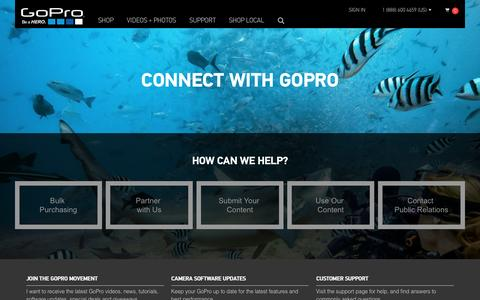 Screenshot of Contact Page gopro.com - GoPro Official Website - Capture + share your world - captured March 30, 2016