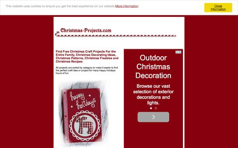 Screenshot of Home Page christmas-projects.com - Free Christmas Crafts, Projects, Patterns and Activities - captured Oct. 13, 2015