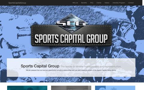 Screenshot of Home Page sportscapitalgroup.com - Sports Management Agency | Sports Capital Group | NFL Football | MLB - captured Sept. 30, 2014