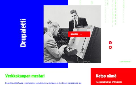 Screenshot of Home Page drupaletti.fi - Mainostoimisto digitoimiston osaamisella - Drupaletti Oy Turku - captured Oct. 5, 2014
