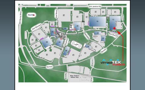 Screenshot of Maps & Directions Page vintagetek.org - Tek Campus Map - captured Oct. 20, 2018