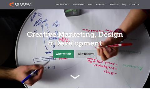 Screenshot of Home Page gotgroove.com - Magento Experts | Hubspot Platinum Partner | Groove: Creative Marketing, Design & Development - captured Feb. 7, 2016