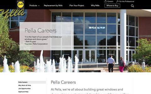 Pella Careers | Pella