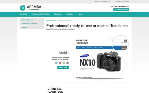 Screenshot of Services Page acomba-ecommerce.com - Online Store and Web Site Design - Acomba e-commerce - captured Oct. 4, 2014