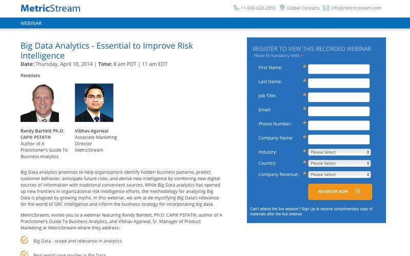 WEBINAR: Big Data Analytics - Essential to Improve Risk Intelligence