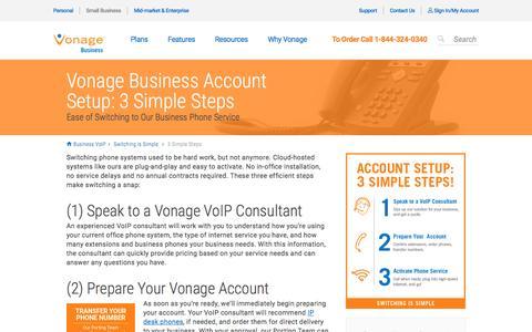 Business Account Setup: 3 Easy Steps | Vonage