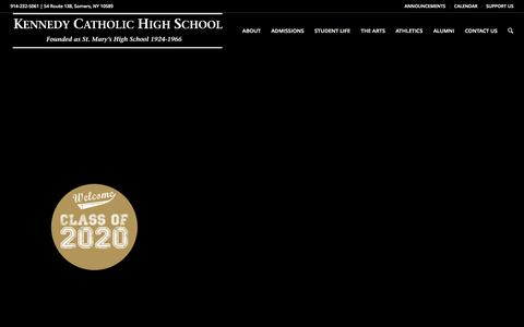 Screenshot of Home Page kennedycatholic.org - Westchester, NY Private Catholic High School, Kennedy Catholic: Home of the Gaels - captured Feb. 11, 2016