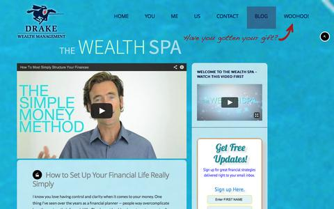 Screenshot of Blog drakewealth.com - The Wealth Spa - Drake Wealth Management - captured Oct. 6, 2014