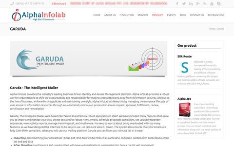 Screenshot of Products Page garudaim.com - Alpha InfoLab Pvt Ltd. - captured May 10, 2017