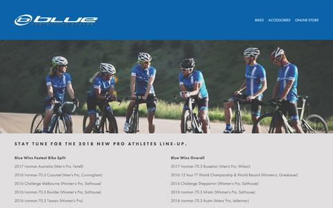 Screenshot of Team Page rideblue.com - Blue Competition Cycles-BLUE TEAM - captured July 31, 2017