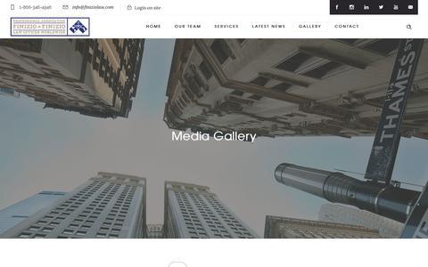Screenshot of Press Page finiziolaw.com - Finizio & Finizio | Media Gallery - captured Oct. 13, 2017