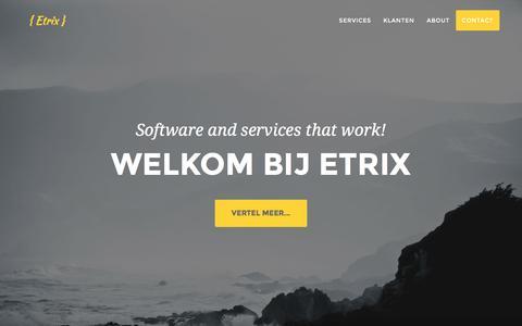 Screenshot of Home Page etrix.nl - { Etrix } - captured Dec. 12, 2015