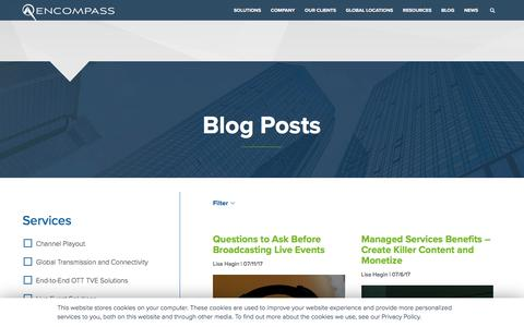 Screenshot of Blog encompass.tv - Resource Library | Encompass Digital Media - captured Jan. 21, 2020