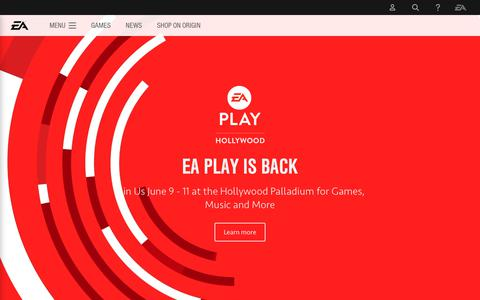 Electronic Arts Home Page - Official EA Site
