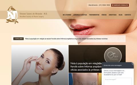 Screenshot of Blog etienne.com.br - Blog Cirurgia Plástica - captured March 7, 2016