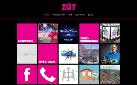 Screenshot of Home Page zutmedia.com - ZUT MEDIA - captured Jan. 12, 2016