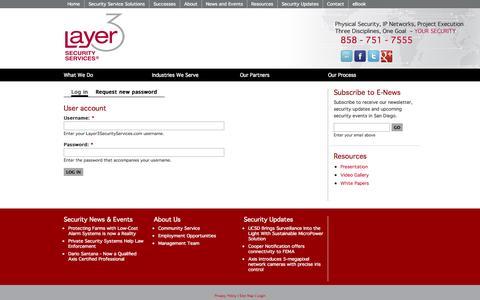 Screenshot of Login Page layer3securityservices.com - User account | Layer3SecurityServices.com - captured Sept. 29, 2014