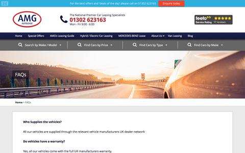 Screenshot of FAQ Page amgautolease.co.uk - FAQs | AMG Autolease - captured Oct. 7, 2017