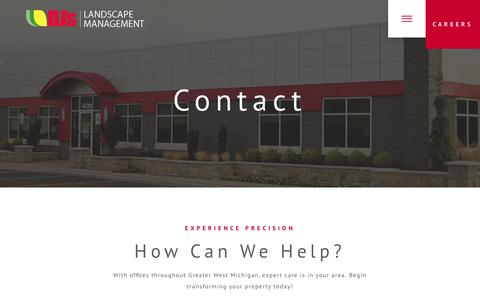 Screenshot of Contact Page djslandscape.com - Contact - DJs Landscape Management - captured Oct. 11, 2017