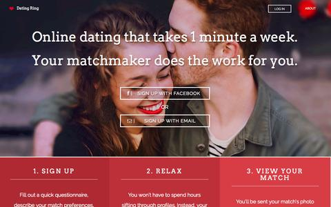 Screenshot of Home Page datingring.com - Dating Ring - captured Dec. 13, 2014