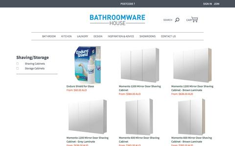 Shaving and Storage Cabinets | Bathroomware House
