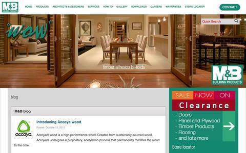 Screenshot of Blog mbsales.net.au - blog - M&B Sales - captured Dec. 16, 2015