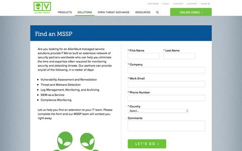 Security-as-a-Service from AlienVault – Find an MSSP | AlienVault