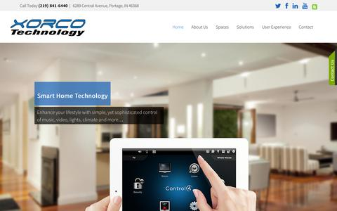 Screenshot of Home Page xorco.com - Xorco Technology - captured Oct. 6, 2014