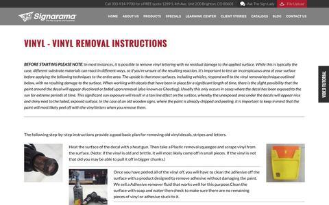 VINYL - Vinyl Removal Instructions | Signarama Colorado