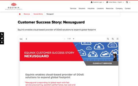 Screenshot of Case Studies Page equinix.com - Nexusguard Customer Success Story | Equinix - captured Dec. 29, 2017