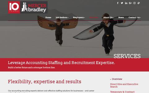 Screenshot of Services Page mercerbradley.com - Services - Mercer Bradley - captured Oct. 17, 2018