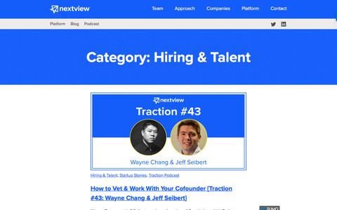 Hiring & Talent Archives - NextView Ventures