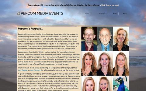Screenshot of Team Page pepcom.com - Pepcom People - captured May 16, 2017
