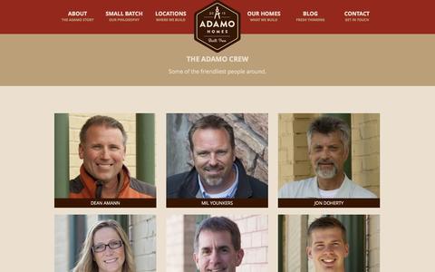Screenshot of Team Page buildadamo.com - Adamo Homes: Our Team - captured Oct. 4, 2014