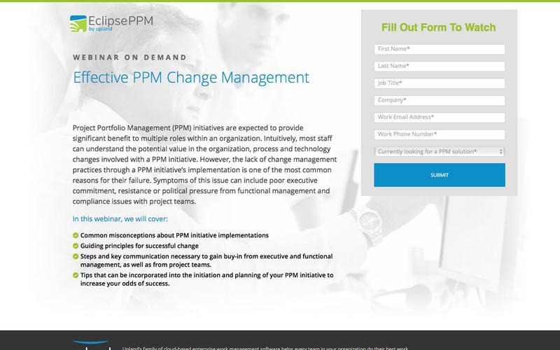 Upland Webinar: Effective Change Management