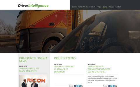 Screenshot of Press Page driver-intelligence.com - News   Driver Intelligence - captured Oct. 9, 2018