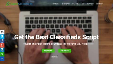 Screenshot of Home Page open-classifieds.com - Free Classifieds Script - Open Classifieds - captured Oct. 2, 2015