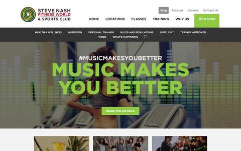 Screenshot of Blog snclubs.com - Blog - Steve Nash Fitness World and Sports Club | Steve Nash Fitness World and Sports Club - captured Jan. 20, 2016