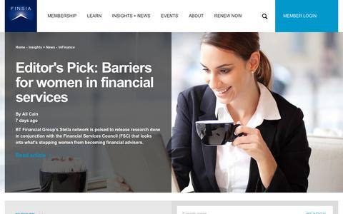Screenshot of Press Page finsia.com - InFinance - captured Oct. 13, 2017