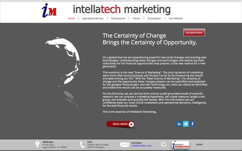 Screenshot of Home Page intellatech.com - Marketing for Success by Intellatech - captured Nov. 26, 2016